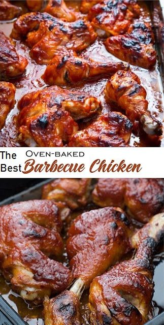 Oven Baked Barbecue Chicken | Recipe | Chicken recipes