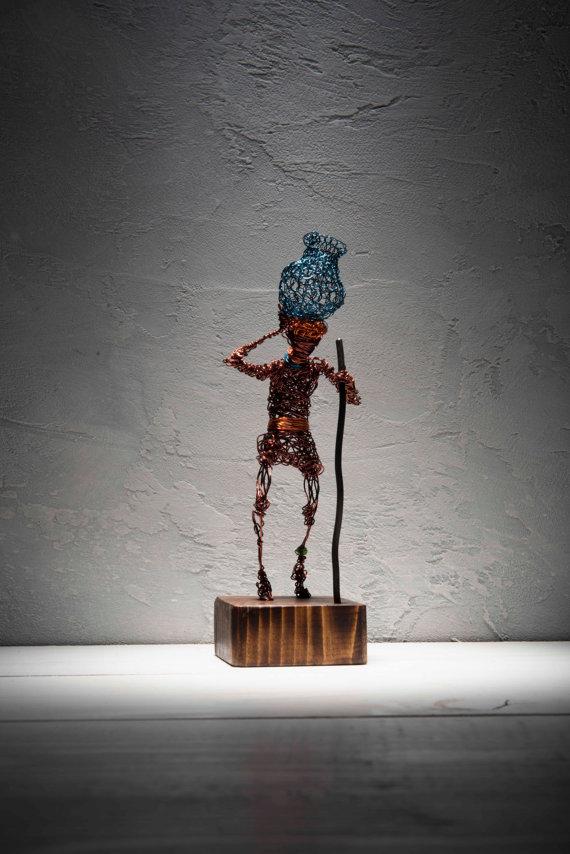 Draht-Skulptur rustikale Einrichtung minimalistischen Stil | Drahten ...