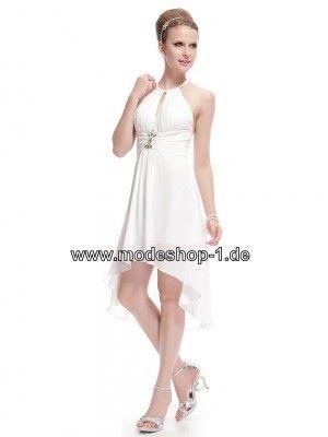 Kleid vorne kurz hinten lang apricot