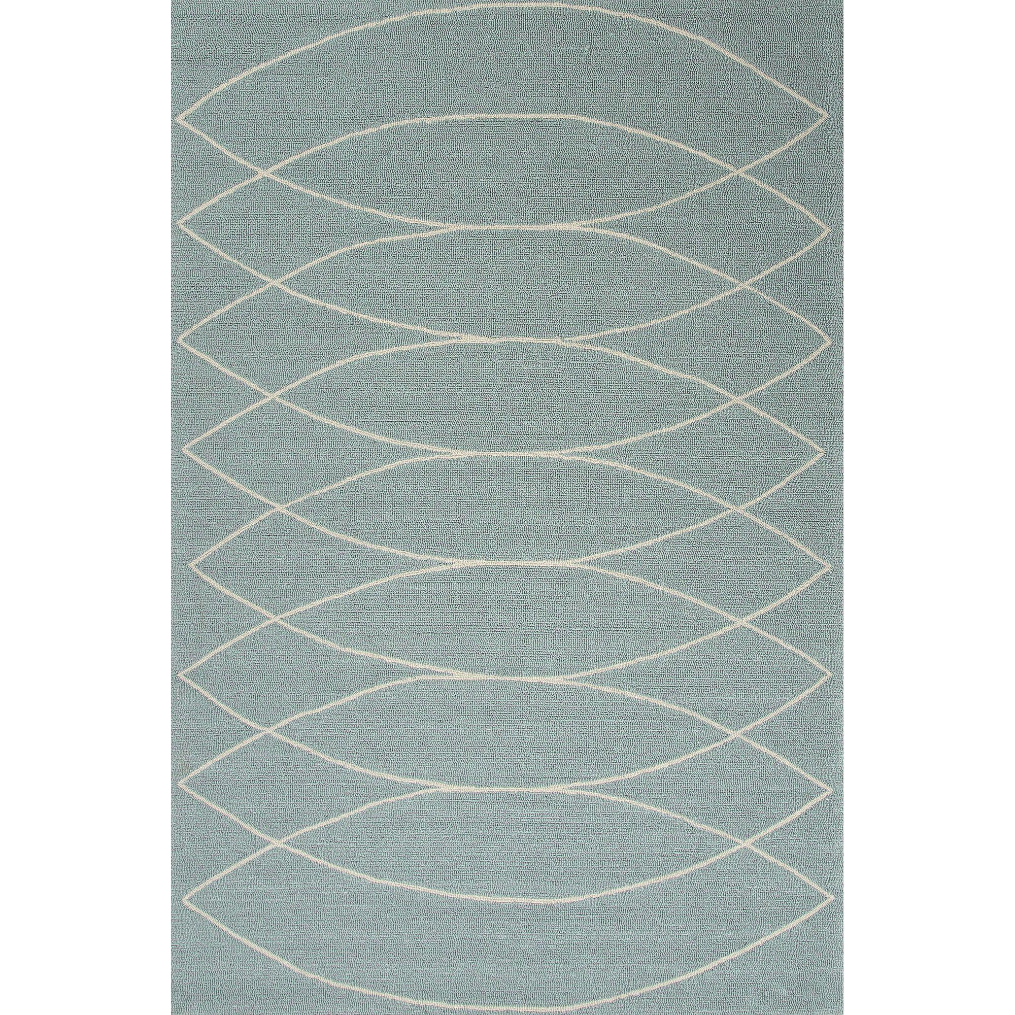Jaipur Rugs IndoorOutdoor Geometric Pattern Blue/Ivory Polypropylene Area Rug GD24 (Rectangle)