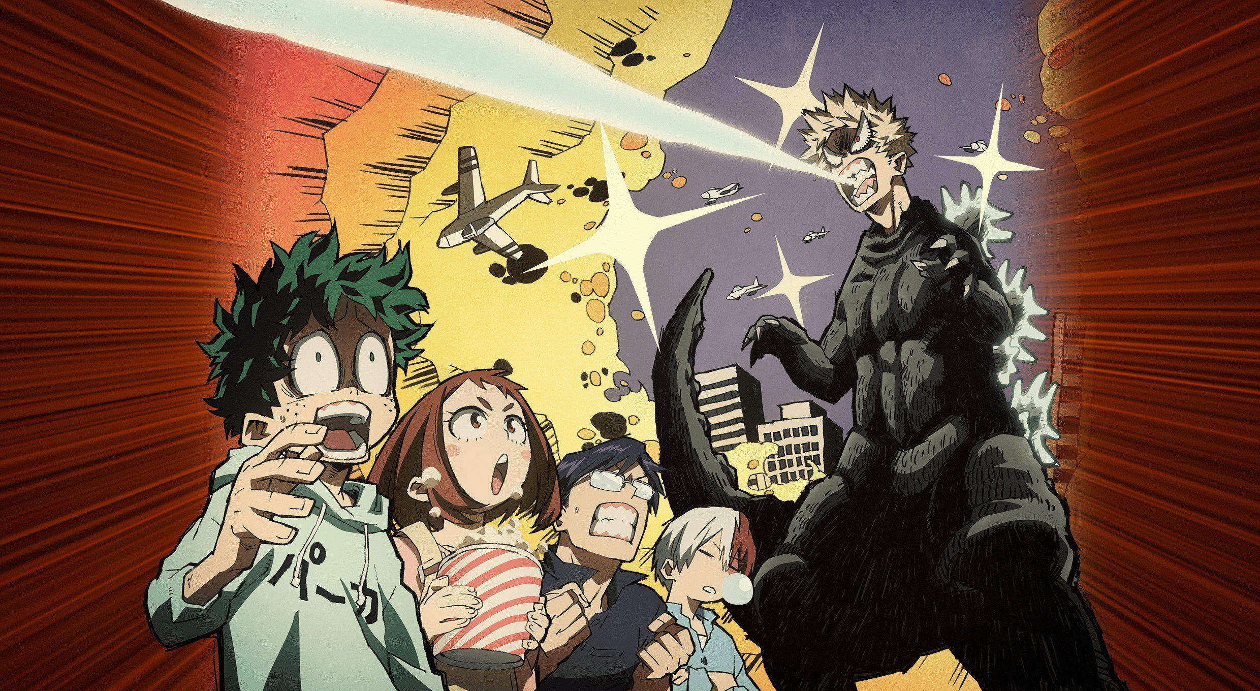 Here S The Textless Version Of Bakuzilla Poster It Works Really Well As A Background I M Not Changing It Anytime Soon Bokunoheroacad Anime Hero My Hero