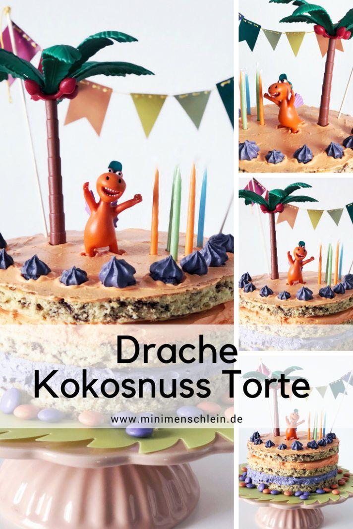 Drache Kokosnuss Torte: Der Kuchen Von Der Insel | Drache Kokosnuss,  Kokosnuss Und Kuchen Backen