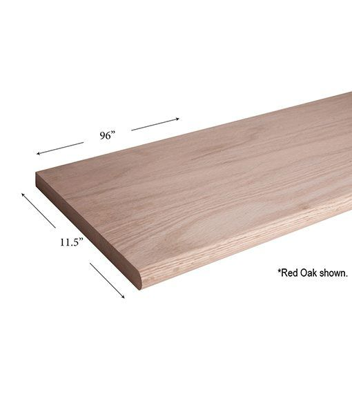 11 1 2 X 96 Bullnosed Stair Tread Stair Treads Red Oak Wood
