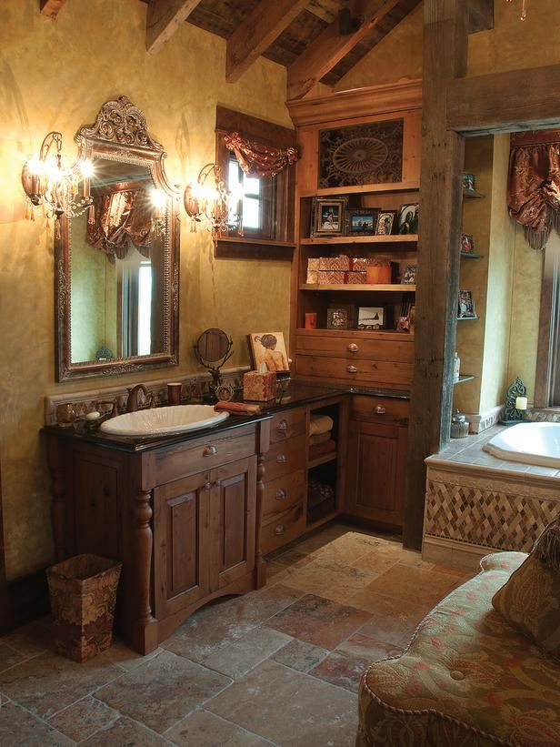 Old World Bathrooms From Larry Pearson On Hgtv Tuscan Inspired