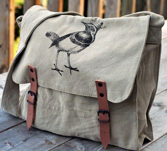 vintage style BIRDY bag original Meatbagz