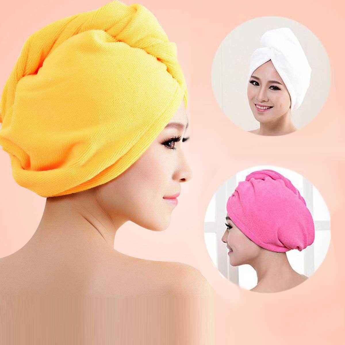 4e4cfb513b8 1.89AUD - Useful Hair Drying Wrap Towel Turban Bath Cap Hat Washcloths Bath  Microfiber #ebay #Home & Garden