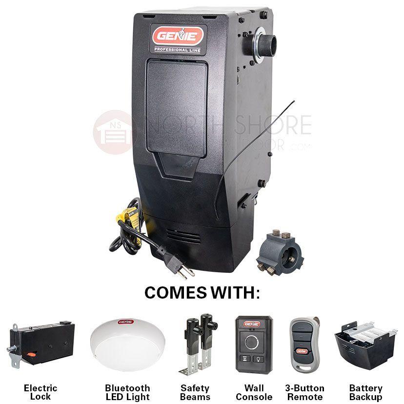 Genie 6170h B Residential Wall Mount Garage Door Opener W Battery Smart Package In 2020 Garage Door Opener Remote Overhead Door Jackshaft Garage Door Opener