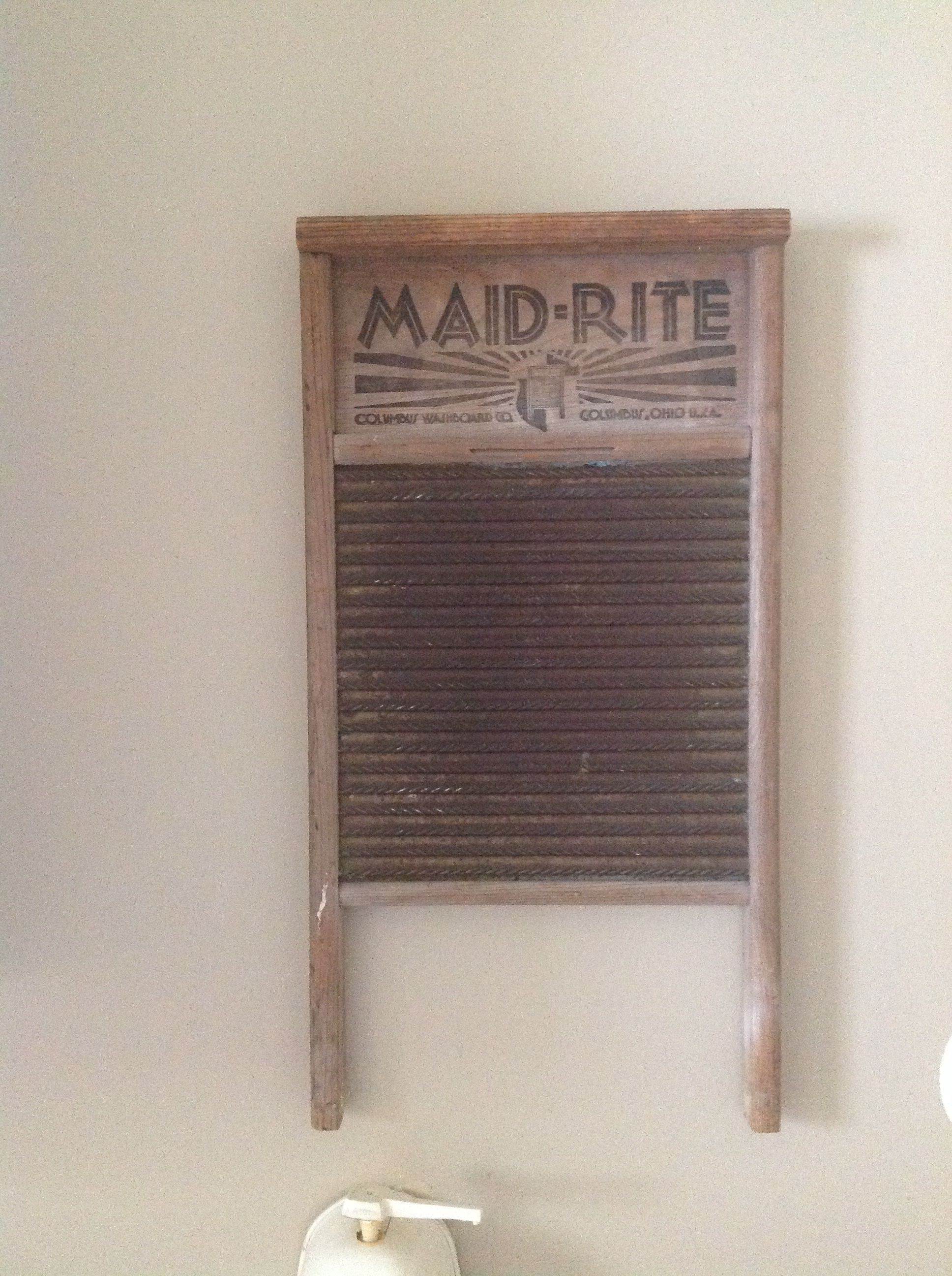 Hangs in my laundry room,can't imagine using one of these to get stains out.