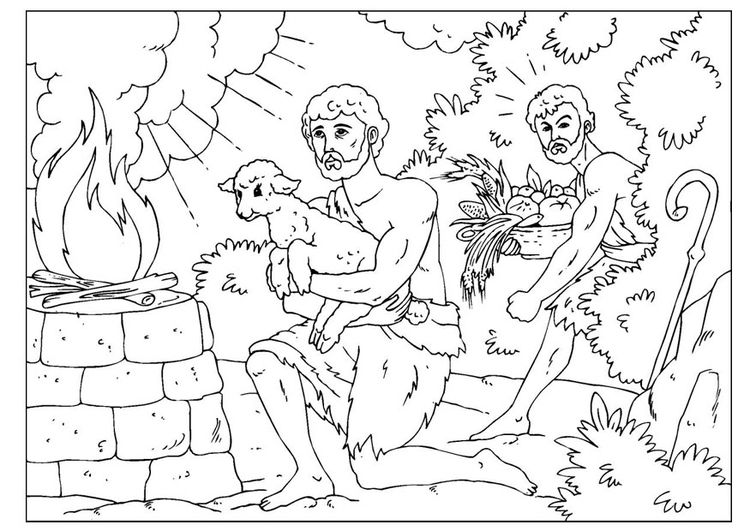coloring page cain and abel - Bible Coloring Pages Cain Abel