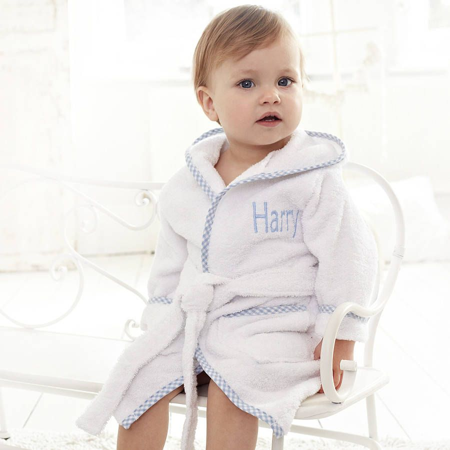 ccc0a671d Are you interested in our Personalised blue cotton robe? With our dressing  gown for babies