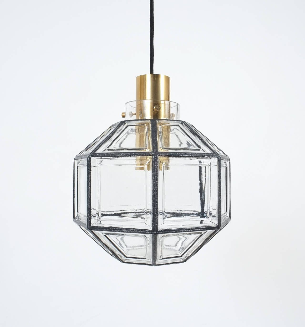 Two pairs of large iron and clear glass lantern pendants by two pairs of large iron and clear glass lantern pendants by limburg aloadofball Choice Image