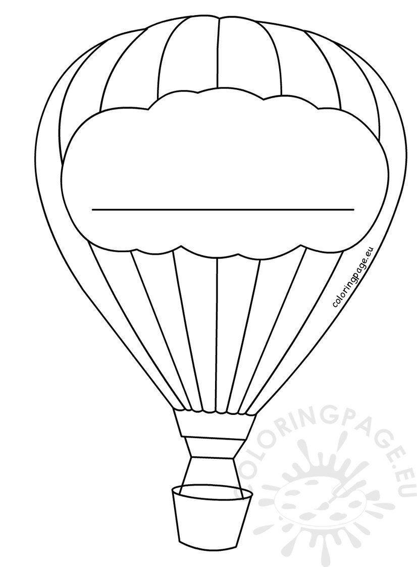 Christmas In July Coloring Pages Balloon Template Hot Air Balloon Template Hot Air Balloon Decoration