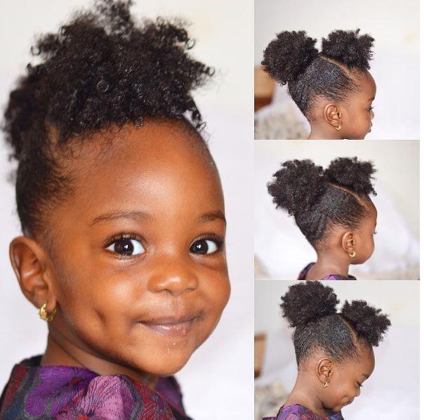 Little Girl S Afro Puffs Munaandluchi Coils Amp Curls