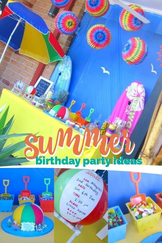 A Joint Summer Birthday Pool Party Summer Birthday Party Pool Birthday Party Summer Birthday
