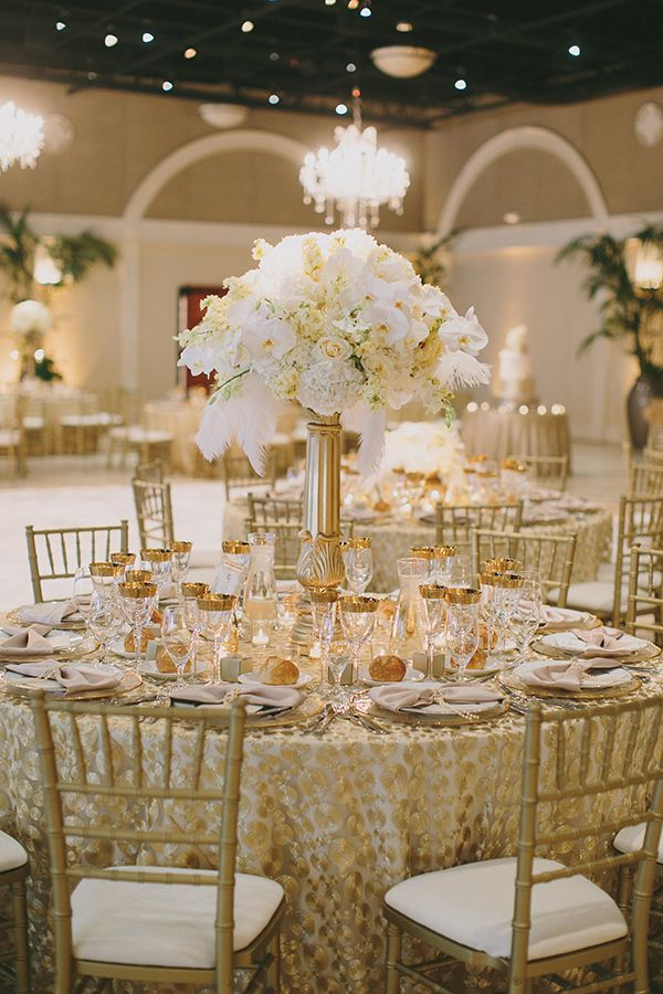 Sparkling Metallic Wedding and Party Ideas Gold wedding