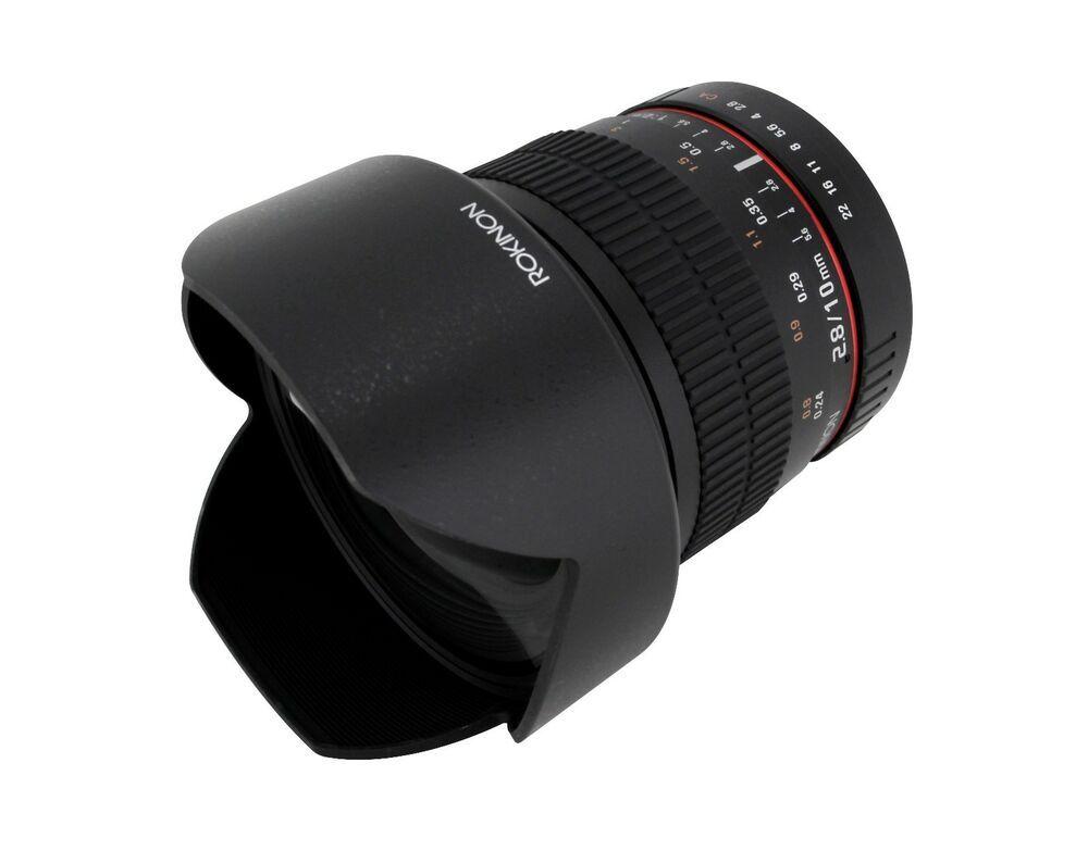 Rokinon 10mm F2 8 Ed Comme Ncs Cs Angle Ultra Large Objectif Pour Micro Quatre Wide Angle Lens Mirrorless Camera Nikon Digital Slr