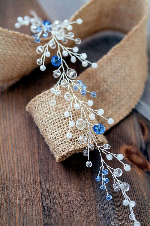 ae6bdea2a232 Свадебные украшения ручной работы. Свадебная веточка для прически невесты.  Украшение на свадьбу. Свадебные