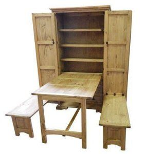 Rustic Cowboy Kitchen Solid Pine Western Fold Up Table