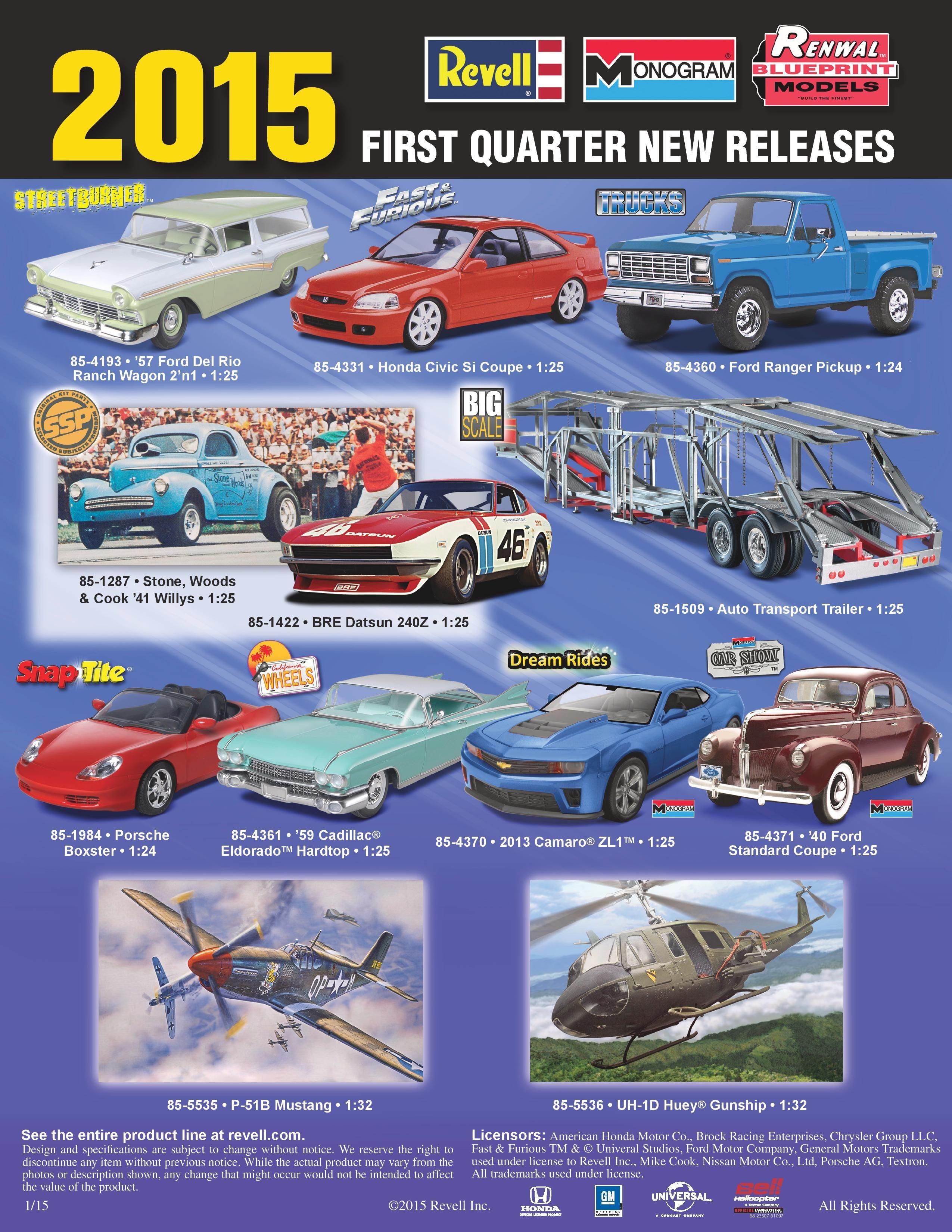 new release plastic model car kitsRevell 2015 1st Quarter new releases  scale  Pinterest