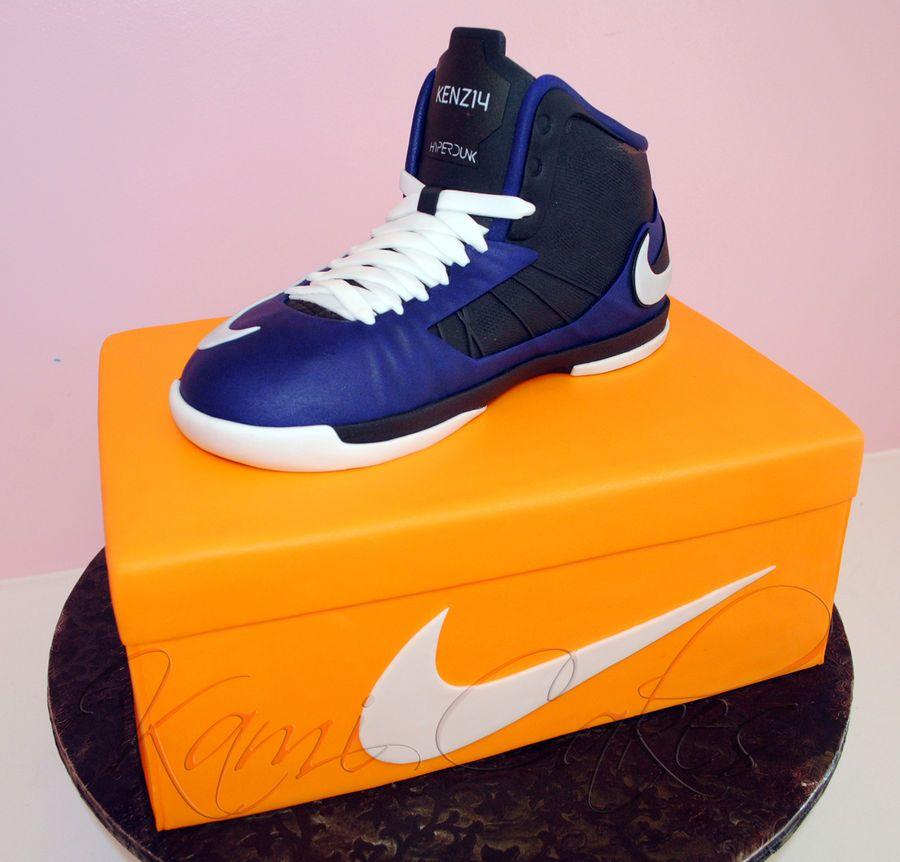 Nike Shoes Cake Design : nike birthday cake Custom sneaker made out of RKT! #nike ...