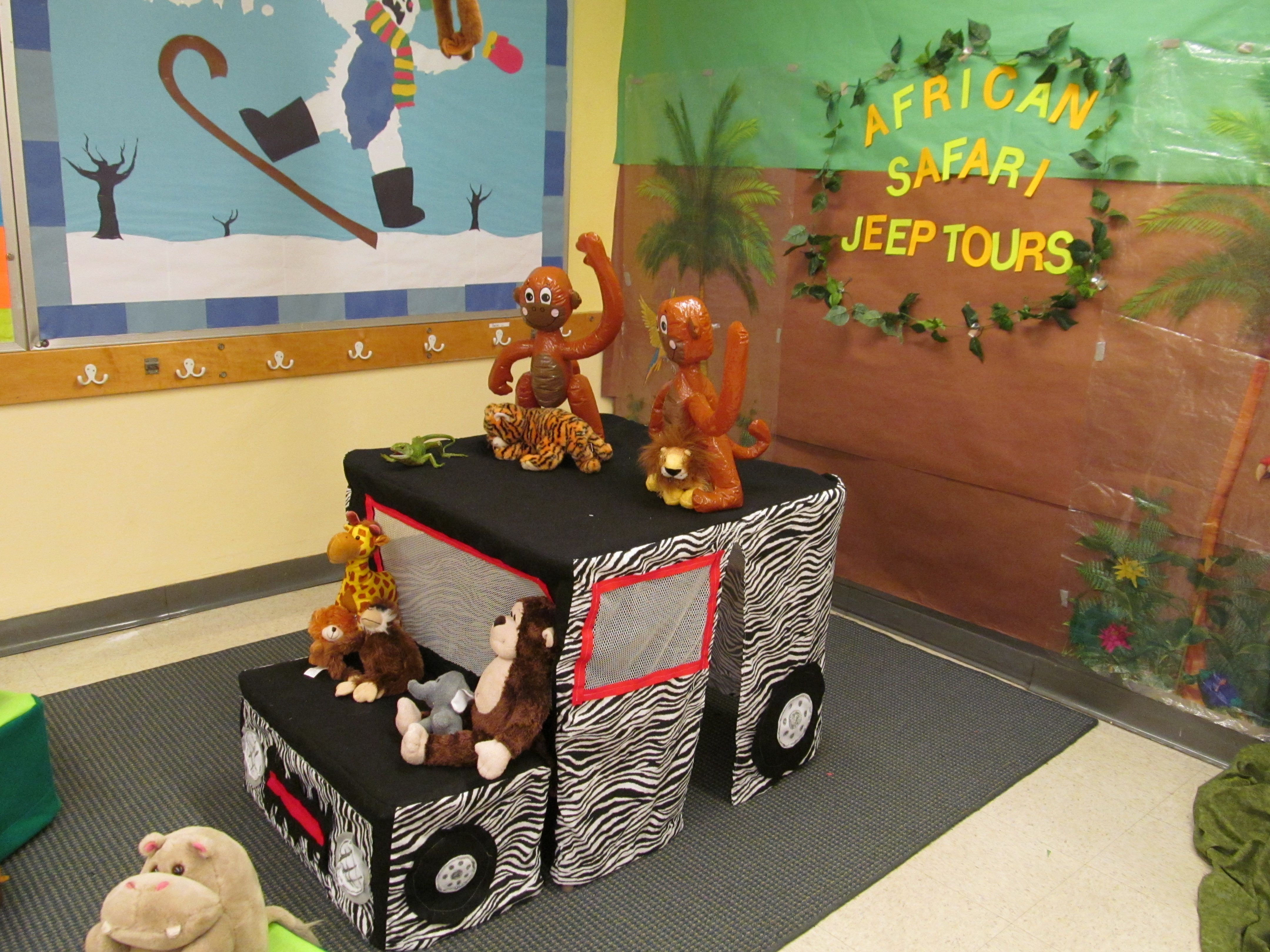 This is a safari jeep i made for a jungle themed for Jungle themed playroom