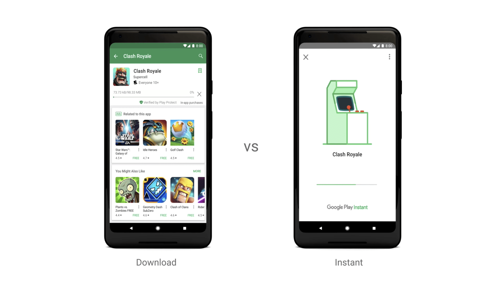 Android games can now be tried without a download Google