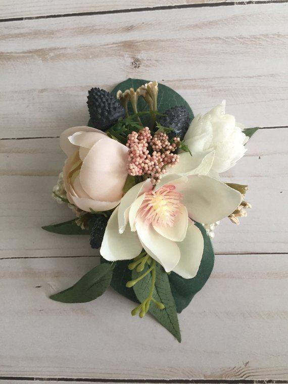 Wedding Corsage, Magnolia Corsage, Wrist Corsage, Spring Corsage, Prom Corsage, Blush Corsage, Mother's Corsage, Wristlet Corsage
