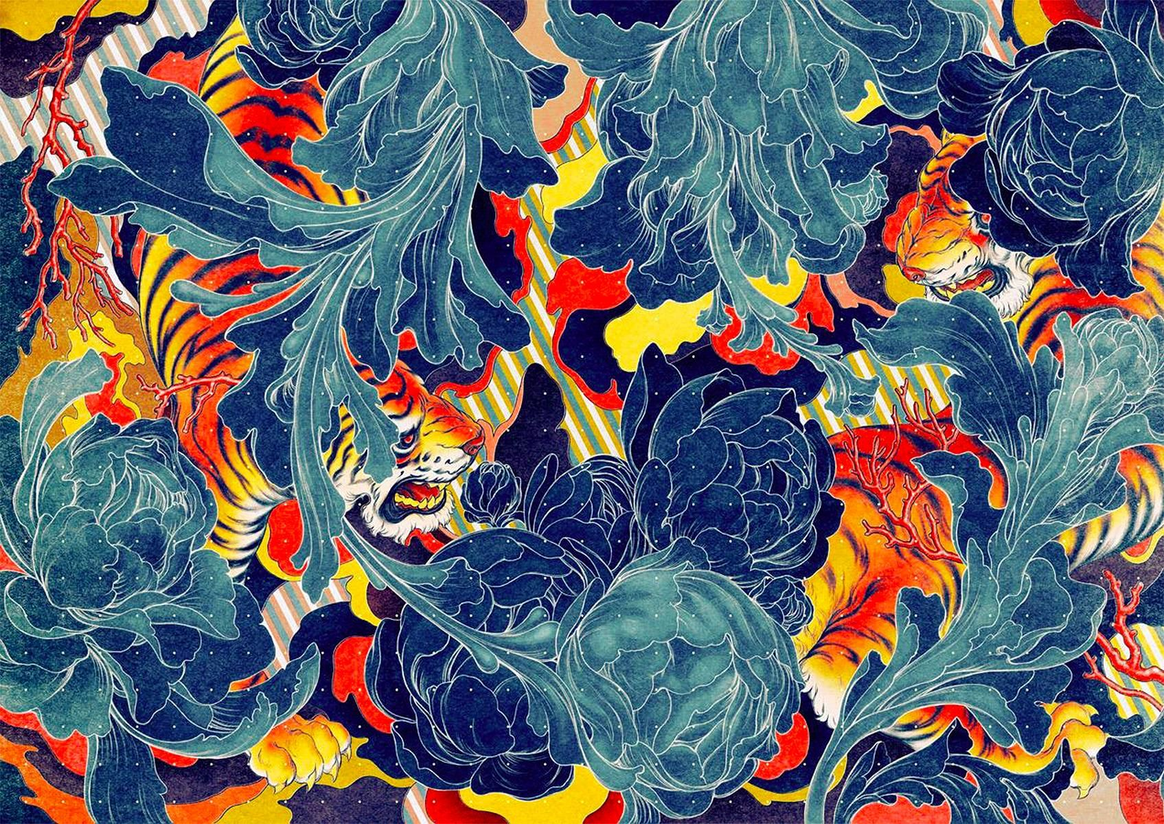 Current Favorite Wallpaper Tiger Ii By James Jean
