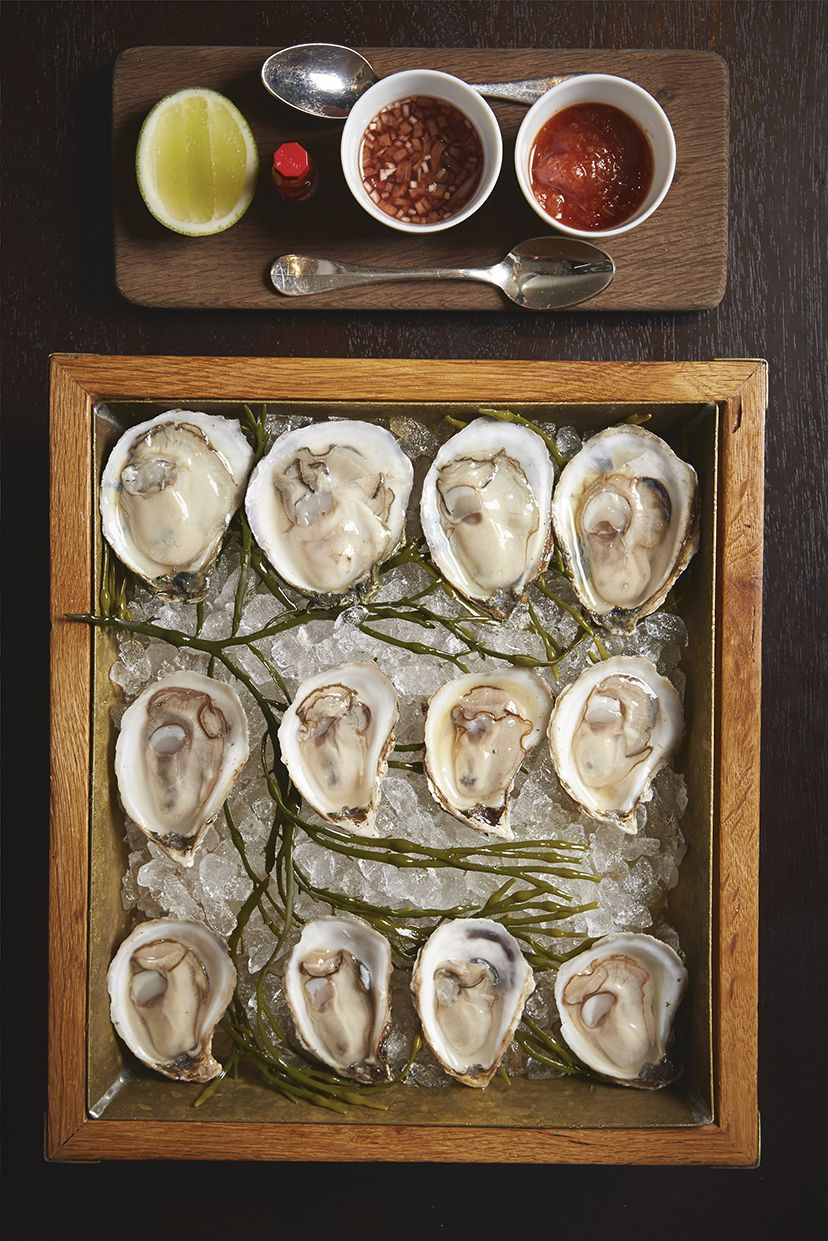 Old fashioned bucket of oysters, bits and bobs    Kevin Brunnock