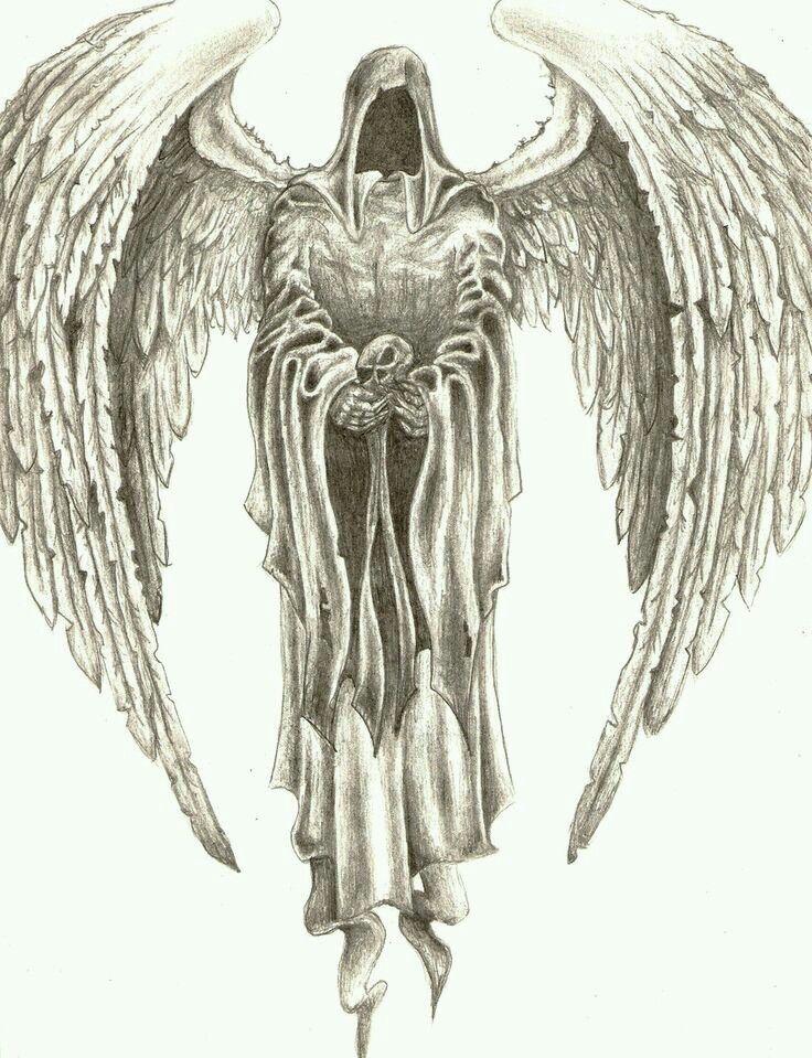 Dunkler engel tattoo