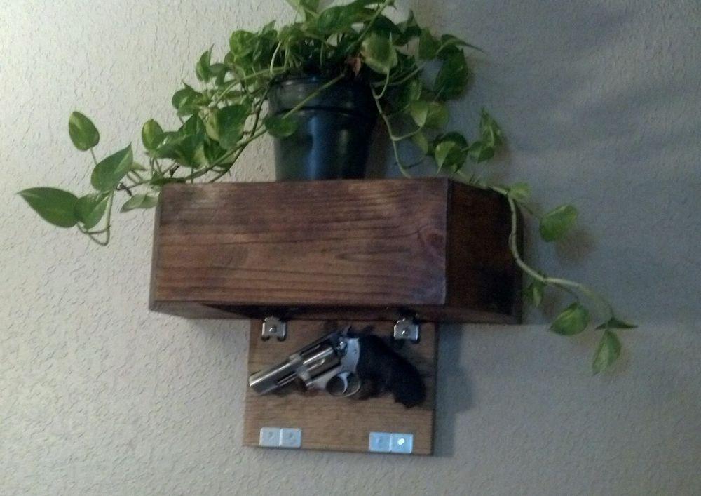 Conceal Boekenplank Umbra : Wall shelf with drop down door hidden concealed compartment cubby