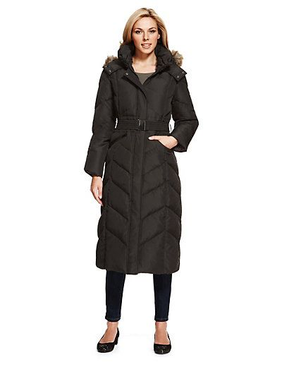 Padded Down Filled Jacket with Stormwear™ | M&S | Long Down Coats ...