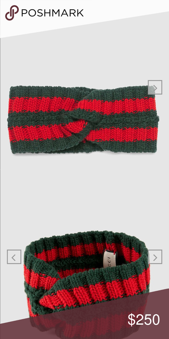 28507e5d40c Gucci Wool Web headband Brand New!!!! A knitted wool headband featuring the