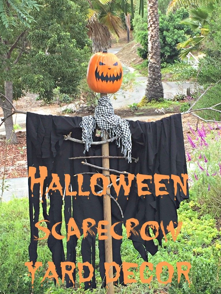 TUTORIAL. Halloween Scarecrow Yard Decor. Simple and Easy