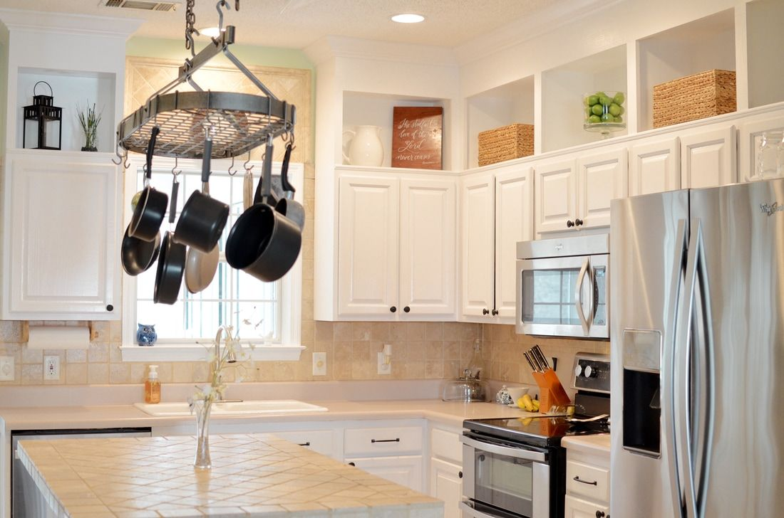 DIY Raised & Painted Kitchen Cabinets | Kitchen cabinets ...