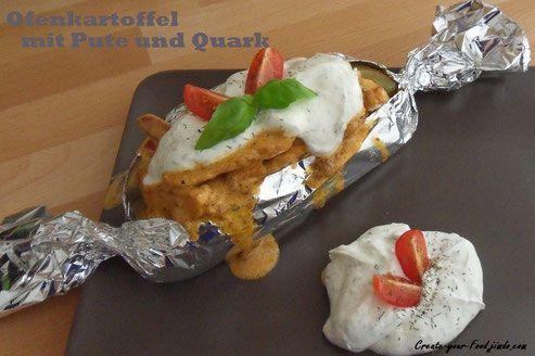 Ofenkartoffel mit Putenbrust und Quark