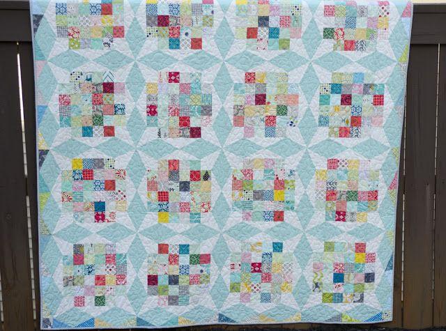 Hyacinth Quilt Designs: Bourbon Street Quilt good option for end piece squares