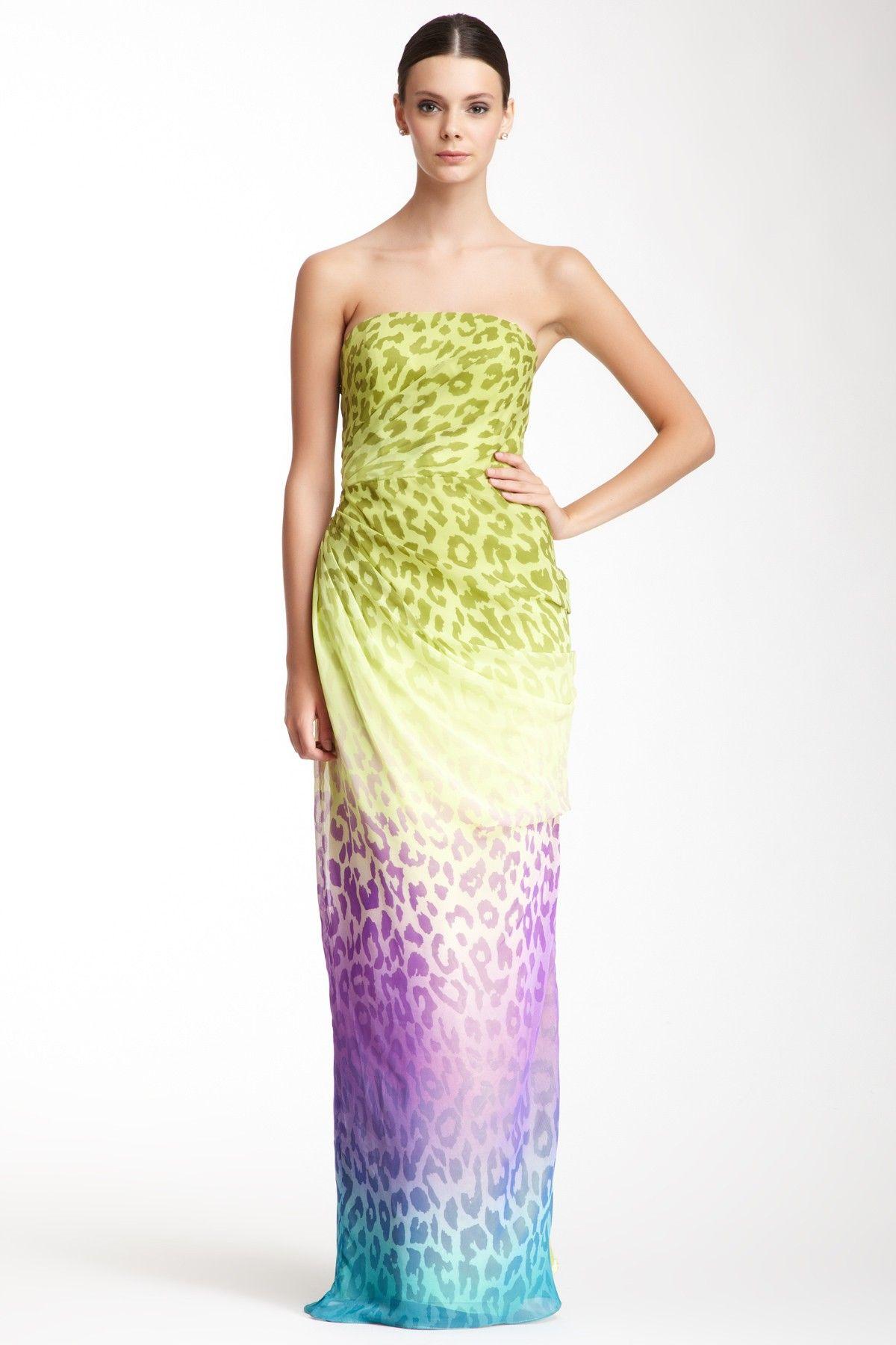 Dalia MacPhee Strapless Cheetah Print Long Dress by Dalia MacPhee on @HauteLook