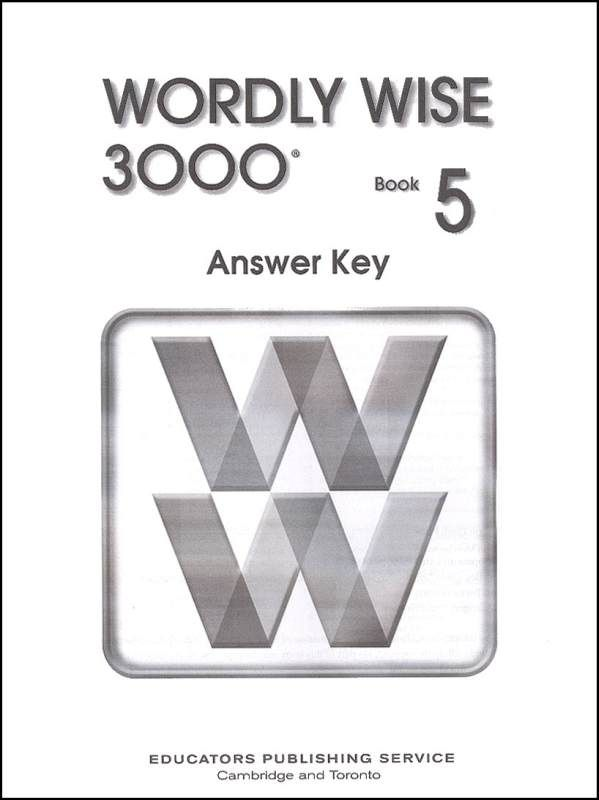 Wordly Wise 3000 2ed 5 Answer Key School Stuff Abby Books