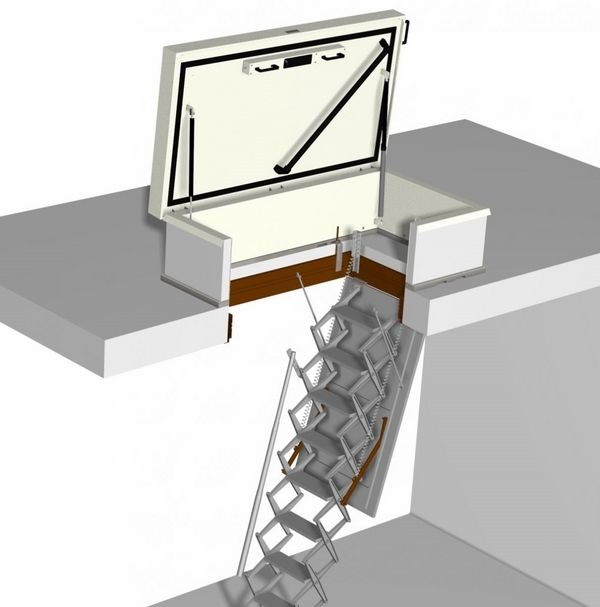 Roof Hatch With Retractable Ladder Roof Access Ideas Hatch