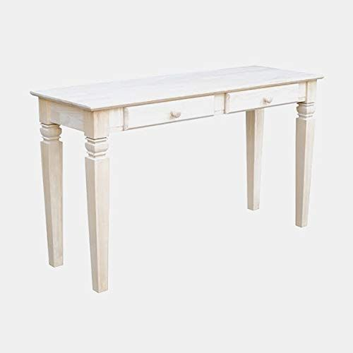 Wood Console Table Console Table With 2 Drawers Unfinished Wood Console Wood Console Table Console Table