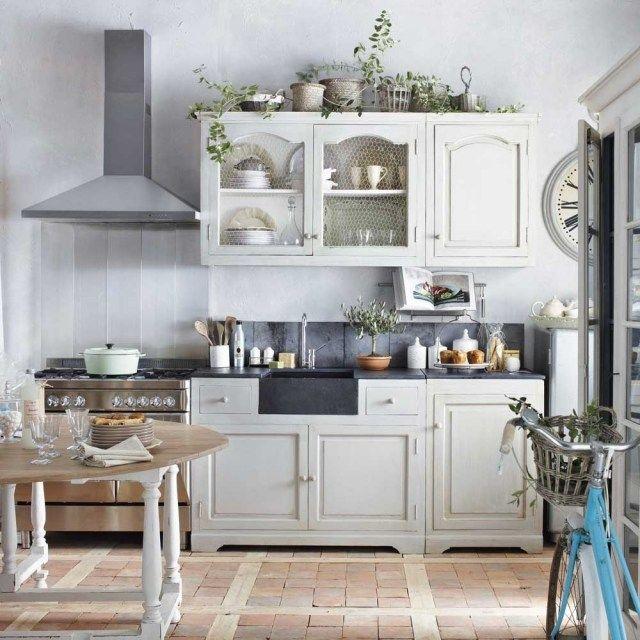 wohntrends bei der kücheneinrichtung-shabby-chic-mischung, Kuchen deko