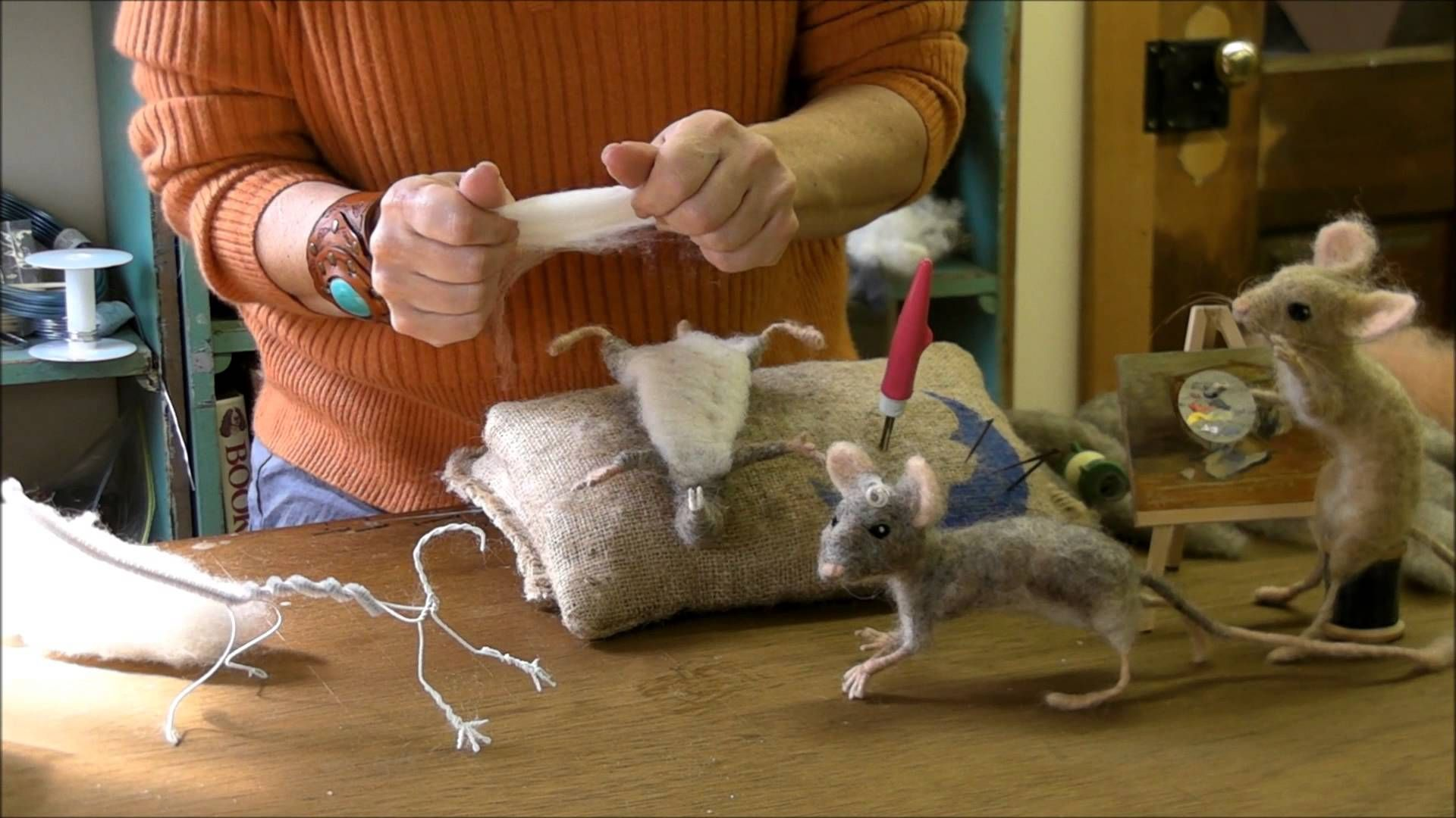 How to Needle Felt - Mouse Series 4: Pelt by Sarafina Fiber Art