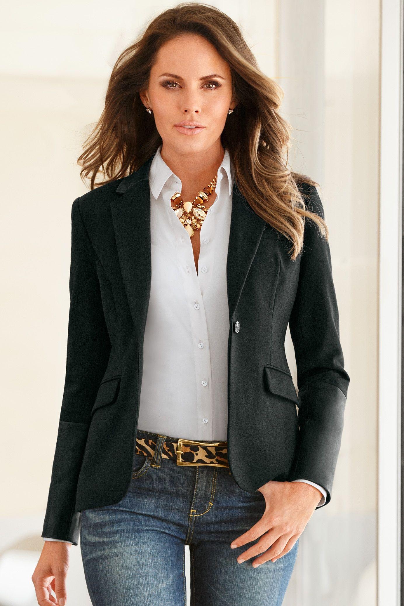 Leather collar blazer trapitos pinterest moda de for Chaquetas guapas