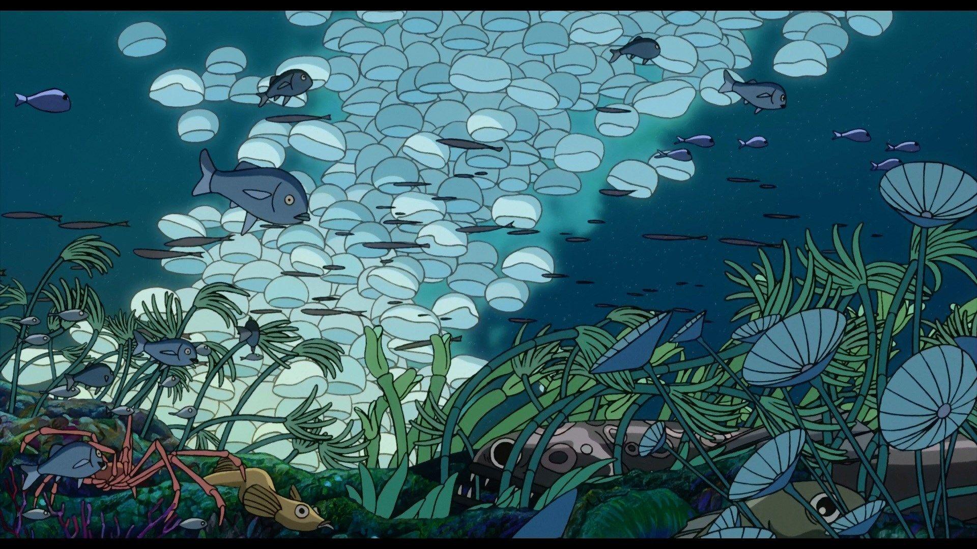 Beautiful Pictures Of Ponyo Studio Ghibli Art Ponyo Ghibli Art