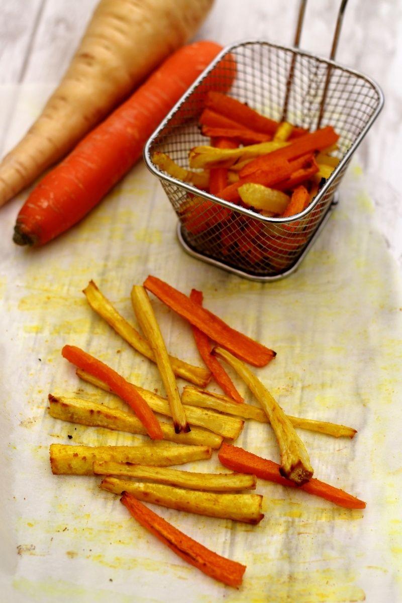 Frites de panais et carottes (au four) - Amandine Cooking ...