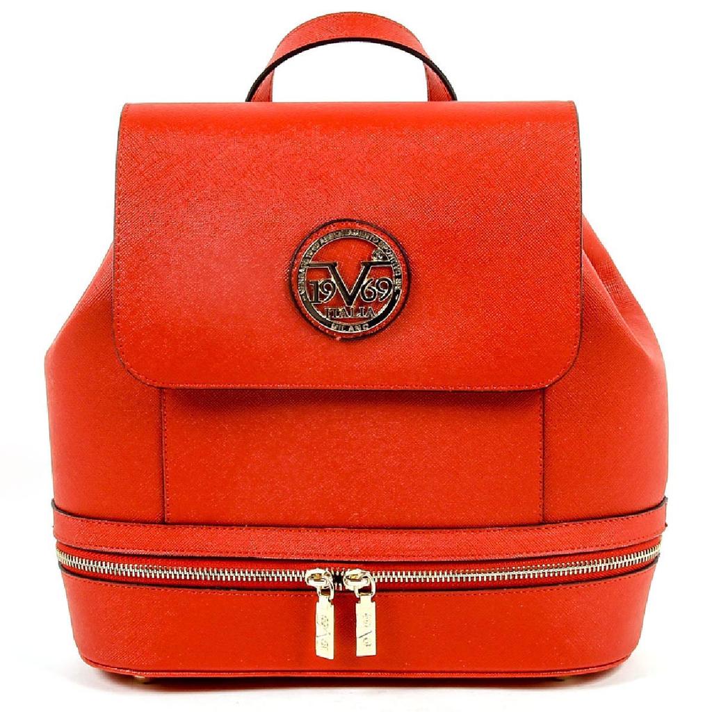 17e7cf37e0f8 Versace 19.69 Womens Sporty Red Leather Handbag V1969004 ...