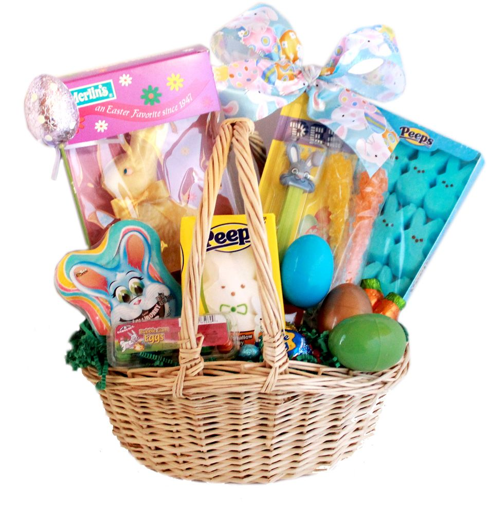 Gourmet easter bunny and eggs candy gift basket gifts pinterest great selection for easter candy baskets including easter chocolate eggs jelly beans peeps order your easter candy gifts from candy negle Images