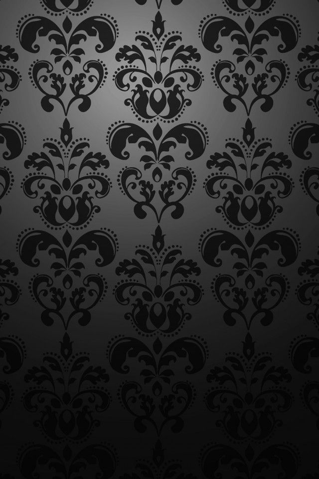 Black Pattern Iphone Damask Wallpaper Victorian Wallpaper