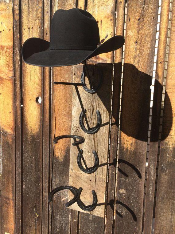 a4da8b5c Horseshoe and Barn Wood Cowboy Hat Rack | Projects | Cowboy hat rack ...
